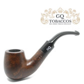 GQ Tobaccos - Mocha Briar - Matt Bent Billiard Saddle Stem - 9mm Filter Pipe
