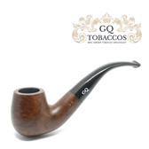 GQ Tobaccos - Mocha Briar - Matt Bent Billiard - 9mm Filter Pipe