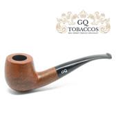 GQ Tobaccos - Caramel Briar - Matt  Semi Bent - 9mm Filter Pipe