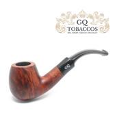 GQ Tobaccos - Cinammon Briar - Matt  Bent Billiard - 9mm Filter Pipe