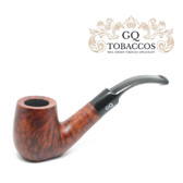 GQ Tobaccos - Cinammon Briar - Matt  Flat Bottom - 9mm Filter Pipe