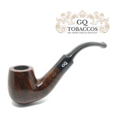 GQ Tobaccos - Mocha Briar - Bent Billiard Saddle Stem - 9mm Filter Pipe