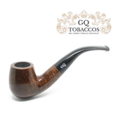 GQ Tobaccos - Mocha Briar - Bent Billiard - 9mm Filter Pipe