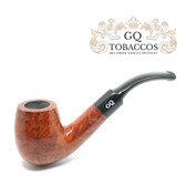 GQ Tobaccos - Cinammon Briar -  Bent Billiard - 9mm Filter Pipe
