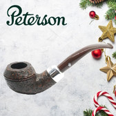 Peterson - Christmas Pipe 2019  - 999 Sandblast Sterling Silver Mount  - 9mm