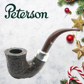 Peterson - Christmas Pipe 2019  - 05 Sandblast Sterling Silver Mount  - 9mm