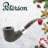 Peterson - Christmas Pipe 2019  - 01 Sandblast Sterling Silver Mount  - 9mm