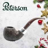 Peterson - Christmas Pipe 2019  - XL02 Sandblast Sterling Silver Mount  - 9mm
