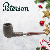 Peterson - Christmas Pipe 2019  - 106 Sandblast Sterling Silver Mount Pipe