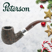 Peterson - Christmas Pipe 2019  - 69 Sandblast Sterling Silver Mount Pipe