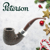 Peterson - Christmas Pipe 2019  - X220 Sandblast Sterling Silver Mount  Pipe