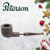 Peterson - Christmas Pipe 2019  - 606 Sandblast Sterling Silver Mount Pipe