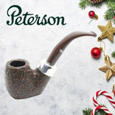 Peterson - Christmas Pipe 2019  - 304 Sandblast Sterling Silver Mount Pipe