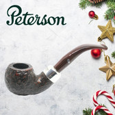 Peterson - Christmas Pipe 2019  - 03 Sandblast Sterling Silver Mount  Pipe
