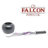Falcon - Shillelagh (Polished/ Purple ) with Carbon Fibre Purple Apple Bowl