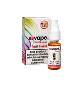 88 Vape - Fruit Twist E Liquid - 11mg / 16mg - 20 x 10ml (200ml Total)
