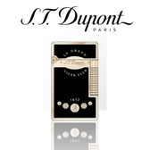 ST Dupont - Cigar Club - Le Grand Soft & Jet Flame Ligher - Yellow Gold & Black Lacquer
