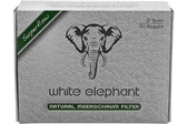 White Elephant - Natural Meerschaum Filters 9mm - 40 Pack