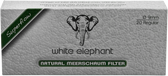 White Elephant - Natural Meerschaum Filters 9mm - 20 Pack