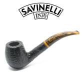 Savinelli - Tigre 670 - Rusticated Black - 6mm Filter Pipe
