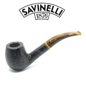 Savinelli - Tigre 670 - Rusticated Black - 9mm Filter Pipe