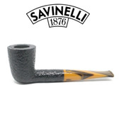 Savinelli - Tigre 409 - Rusticated Black - 6mm Filter Pipe