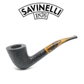 Savinelli - Tigre 920 - Rusticated Black - 6mm Filter Pipe