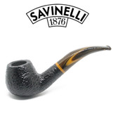 Savinelli - Tigre 645 - Rusticated Black - 6mm Filter Pipe