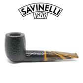 Savinelli - Tigre 101 - Rusticated Black - 9mm Filter Pipe