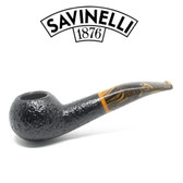 Savinelli - Tigre 321 - Rusticated Black - 9mm Filter Pipe