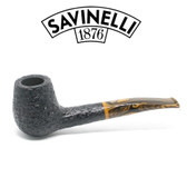 Savinelli - Tigre 145 - Rusticated Black - 6mm Filter Pipe
