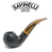 Savinelli - Tigre 642 - Rusticated Black - 6mm Filter Pipe