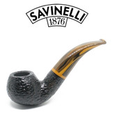 Savinelli - Tigre 642 - Rusticated Black - 9mm Filter Pipe