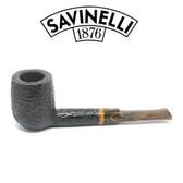 Savinelli - Tigre 114 - Rusticated Black - 6mm Filter Pipe