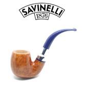 Savinelli - Eleganza 614 - Smooth Natural  - 9mm Filter Pipe
