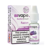 88 Vape - Fusion E Liquid - 11mg / 16mg Any Tank - 20 x 10ml (200ml Total)