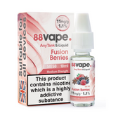 88 Vape - Fusion Berries E Liquid - 50/50 Any Tank - 11mg - 20 x 20ml (200ml Total)