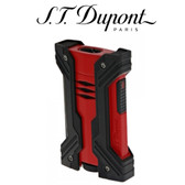 S.T. Dupont - Defi XXtreme - Black & Red - Double Jet Torch Lighter
