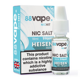 88 Vape - 18mg -  Heisenberg E Liquid - 50/50 Nic Hit - 10 x 100ml (100ml Total)