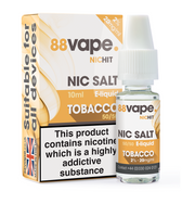 88 Vape - 20mg -  Tobacco E Liquid - 50/50 Nic Hit - 10 x 100ml (100ml Total)
