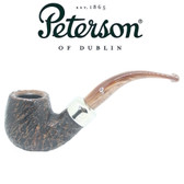 Peterson - Derry Rustic 221 - 9mm Filter Bent Billiard Pipe