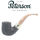Peterson - Derry Rustic 338 - 9mm Filter Bent Dublin Pipe