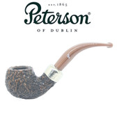 Peterson - Derry Rustic 03 - 9mm Filter Bent Apple Pipe