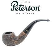 Peterson - Aran Rustic 03 - Bent Apple Fishtail Mouthpiece Pipe