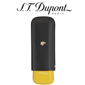 ST Dupont Cohiba Collection - Black & Yellow Leather Double Cigar Case