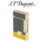ST Dupont Cohiba Collection - Ligne 2 Black & Yellow Lacquer Soft Flame Lighter