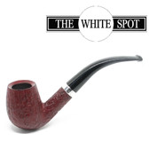 Alfred Dunhill - Ruby Bark - 5 102  - Group 4 - Bent - White Spot - Silver Band