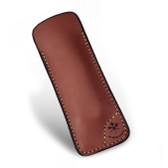 Les Fines Lames - Le Petit Leather Cigar Cutter Case - Brown