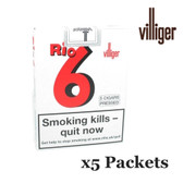 Villiger - Rio 6 Pressed Cigars - 5 Packets of 5 (25 Cigars in Total)