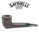 Savinelli -  Free Rusticated Black - 01 Pipe - 6mm Filter